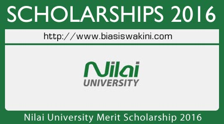 Nilai University Merit Scholarship 2016