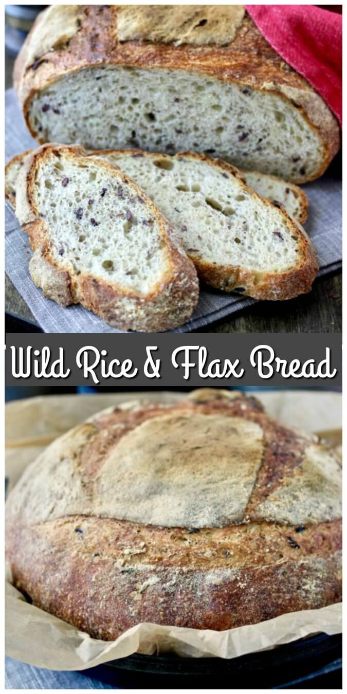 With a chewy crust and soft and airy interior, this wild rice and flax seed bread is hearty, nutritious, and delicious.