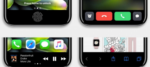 Apple iPhone 8 iOS 11 function area