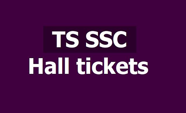 TS SSC 10th Class Exams Hall tickets