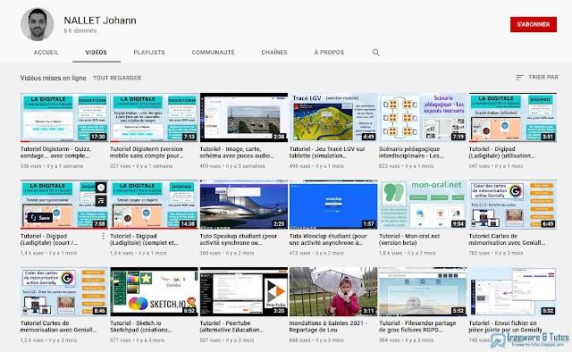 Le site du jour : la chaîne YouTube de Johann Nallet