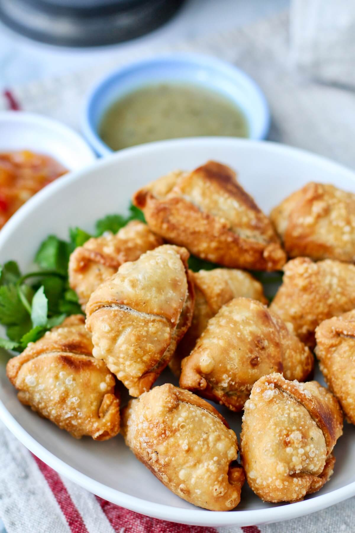 Potato (Aloo) and Pea Samosas