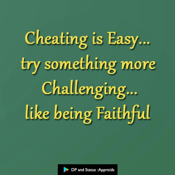 Best Cheat Quotes on Relationship for Whatsapp Status 2019