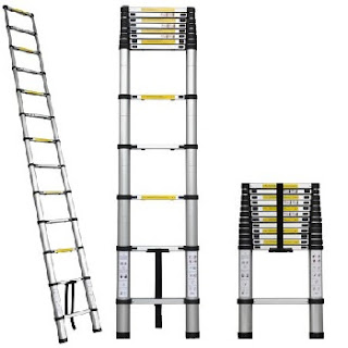 Aluminum Extension Telescopic Telescoping Loft Ladder