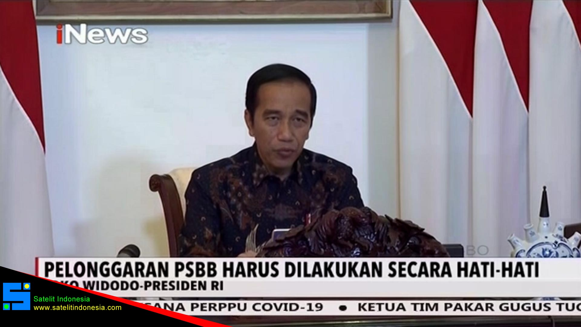 Frekuensi siaran iNews di satelit ChinaSat 10 Terbaru