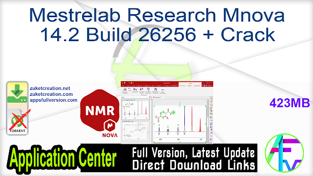 Mestrelab Research Mnova 14.2 Build 26256 + Crack
