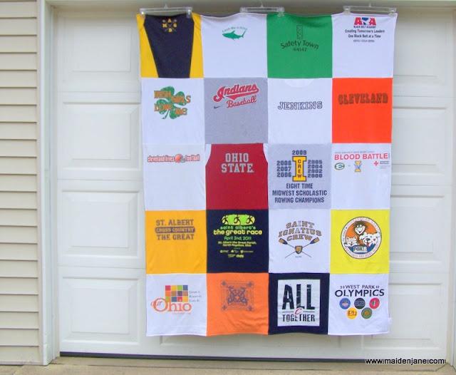 T Shirt Memory Blanket – 20 Block Design
