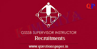 GSSSB Supervisor Instructor (Refrigeration & Air Conditioning Group) (Advt. No. 169/2018-19) Question Paper (07-07-2019)