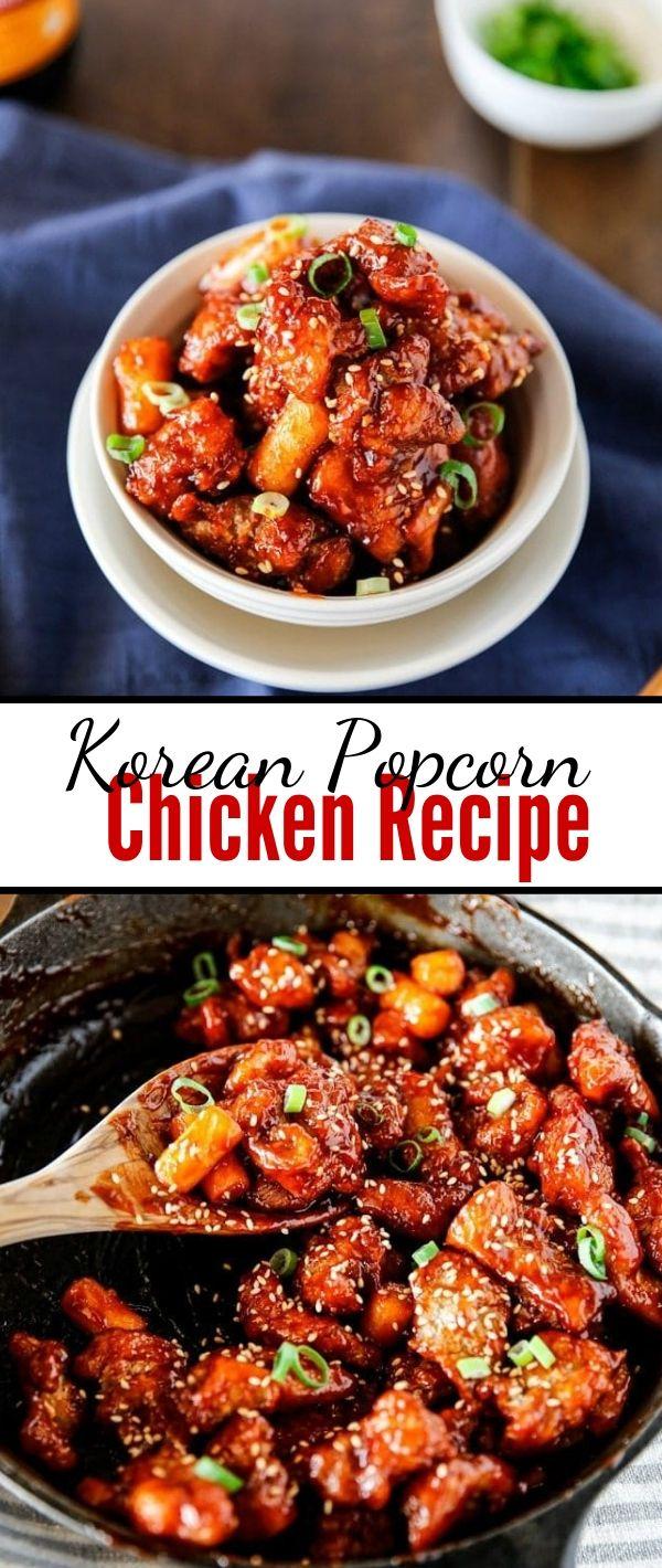 Korean Popcorn Chicken Recipe #Korean #Popcorn #Chicken #Recipe Chicken Recipes Healthy, Chicken Recipes Easy,