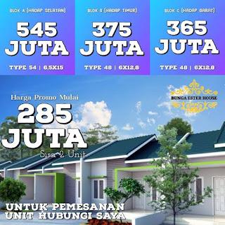 Perumahan Termurah dekat Kampus USU Padang Bulan Medan - PROMO TERBATAS - Hanya 285 Juta - Bunga Ester House