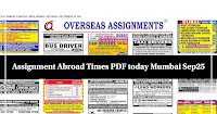 Assignment Abroad Times PDF today Mumbai Sep25