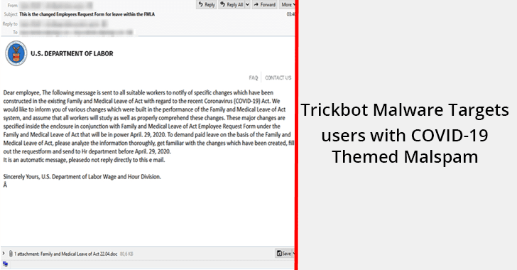 Trickbot Malware Campaign