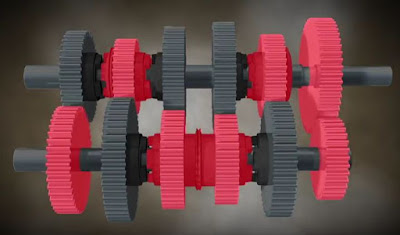 modul perpindahan gigi pada motor