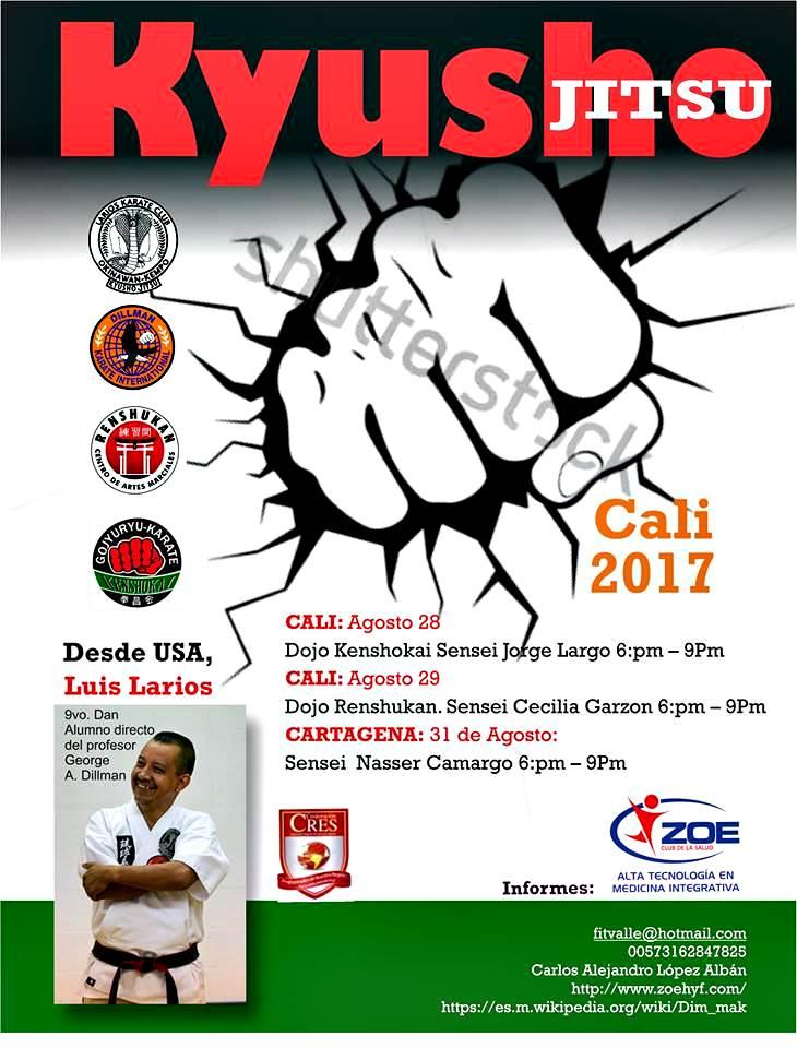 Kyusho Jitsu: curso Internacional 2017 - Cali y Cartagena, Colombia