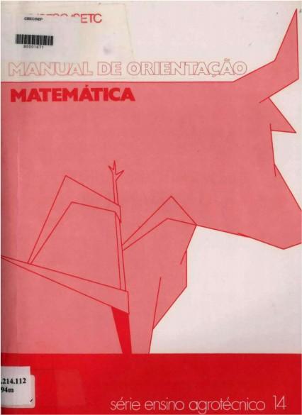 Matemática manual de orientação