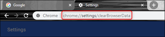 عنوان URL لإعدادات Chrome