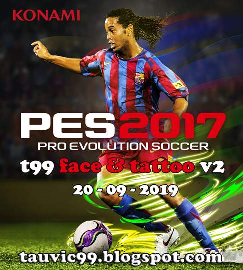 PES 2017 T99 Facepack and Tattoopack Volume 2
