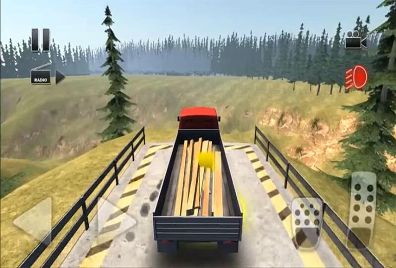 لعبة قيادة الشاحنة