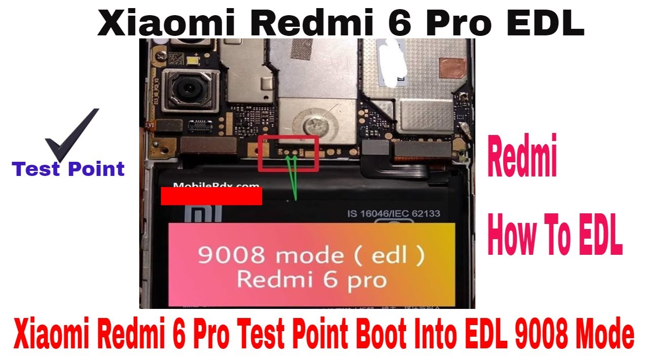 Test points or Edl mode in Redmi note 6 pro | MIUI15