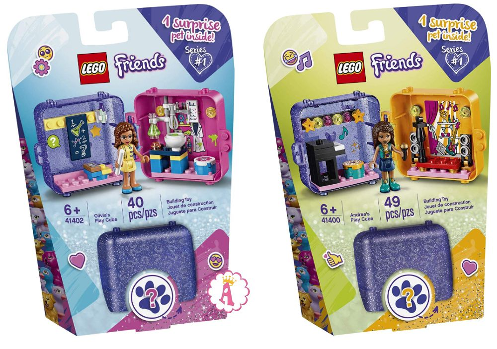 Новинки LEGO Friends 2020 Play Cube с 4 сюрпризами
