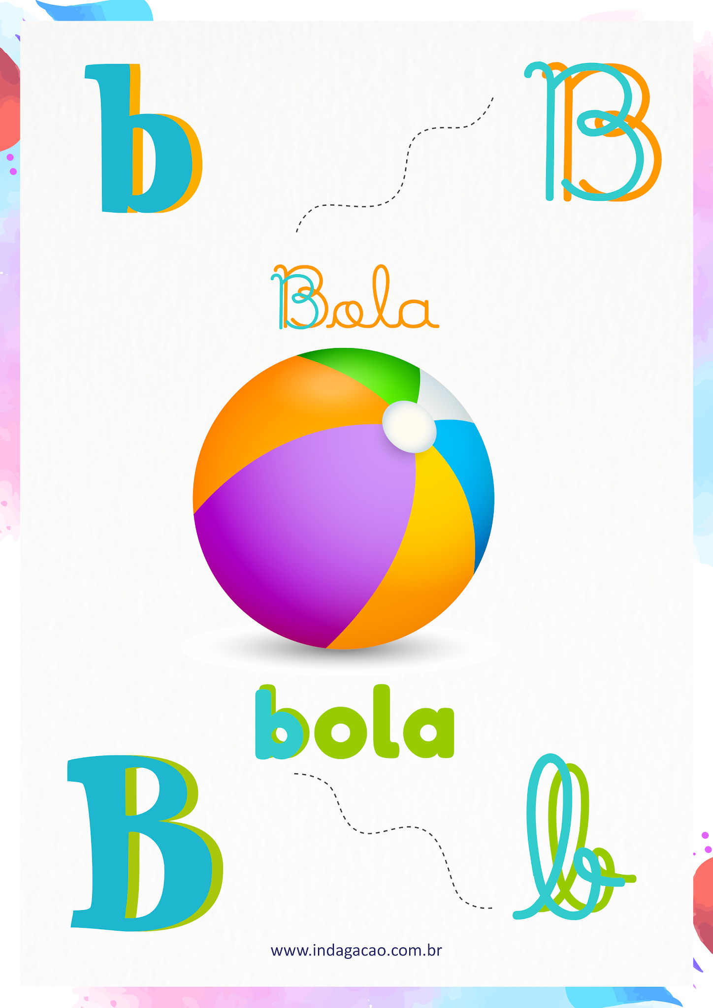 Alfabeto Ilustrado Letra B; baixar