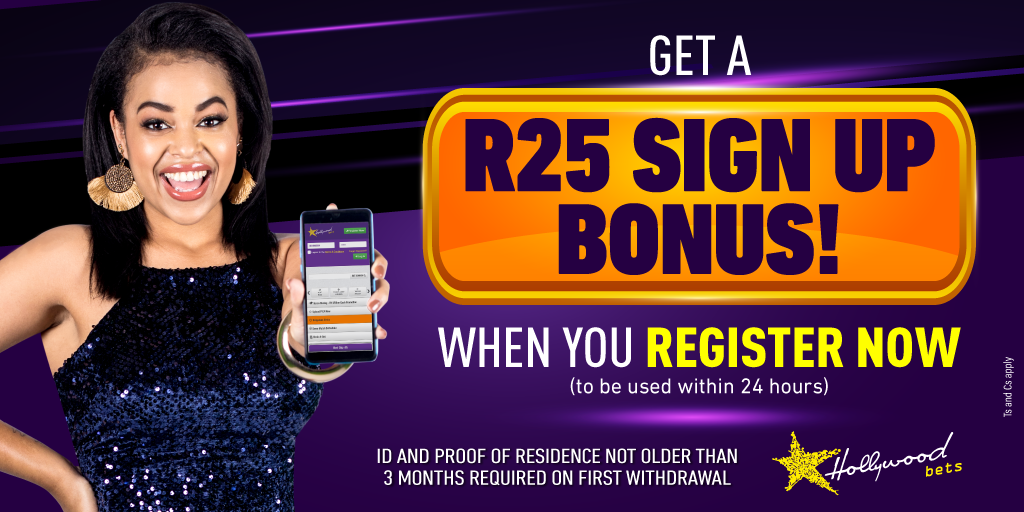 Sign up now with Hollywoodbets