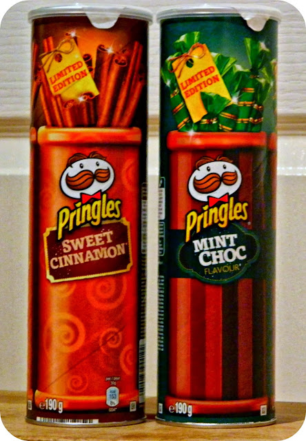 Sweet Cinnamon and Mint Choc Chip Pringles