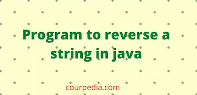 Program to reverse a string in java
