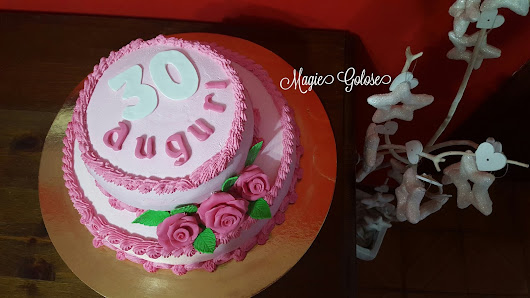 Torta di compleanno con rose - Pink Rose Birthday Cake
