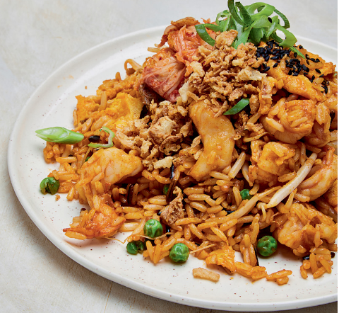 Korean-style Prawn Fried Rice recipe