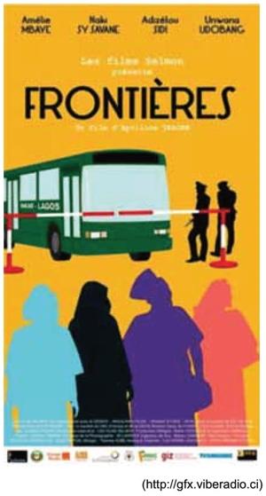 Observe o cartaz do filme Fronteiras da cineasta Apolline Traoré, lançado em 2017