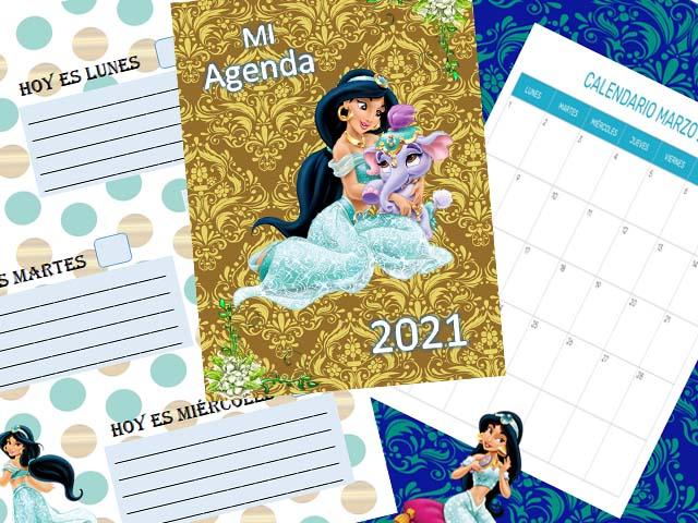 Agenda infantil 2021 - Jazmín