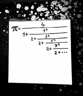 Obrázek periodicky řetězového zlomku pro číslo pí (autor ilustrace: Sebastián Wortys)