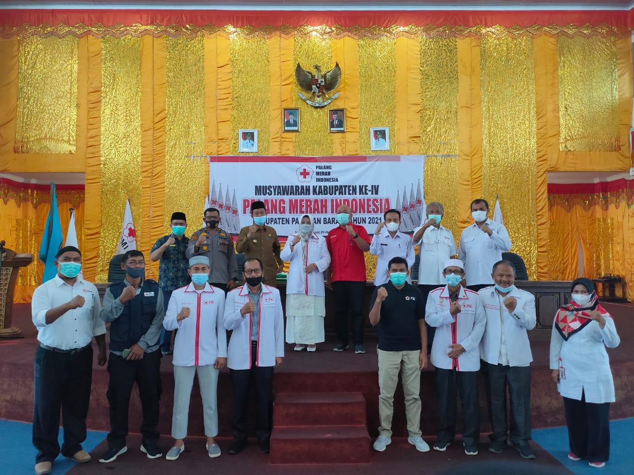 Wabup Pasaman Barat Buka Musyawarah Kerja Ke IV PMI Kabupaten Pasaman Barat