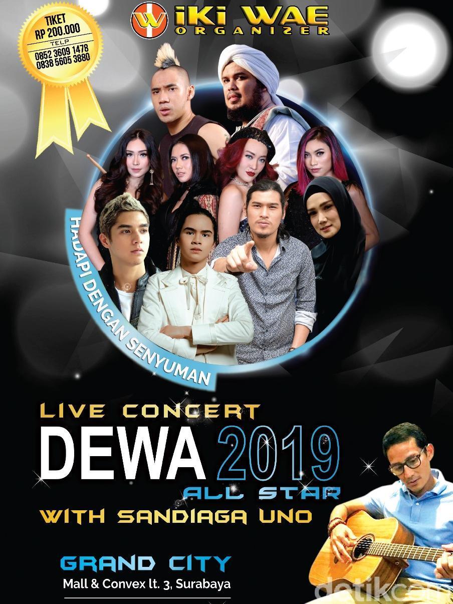 1.500 Tiket Konser 'Hadapi dengan Senyuman' Ahmad Dhani Ludes Terjual