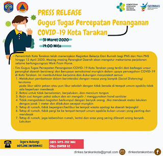 Press Release COVID-19 Tarakan 31 Maret 2020 - Tarakan Info