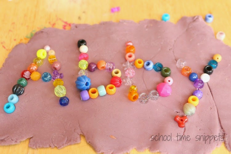 play dough literacy idea