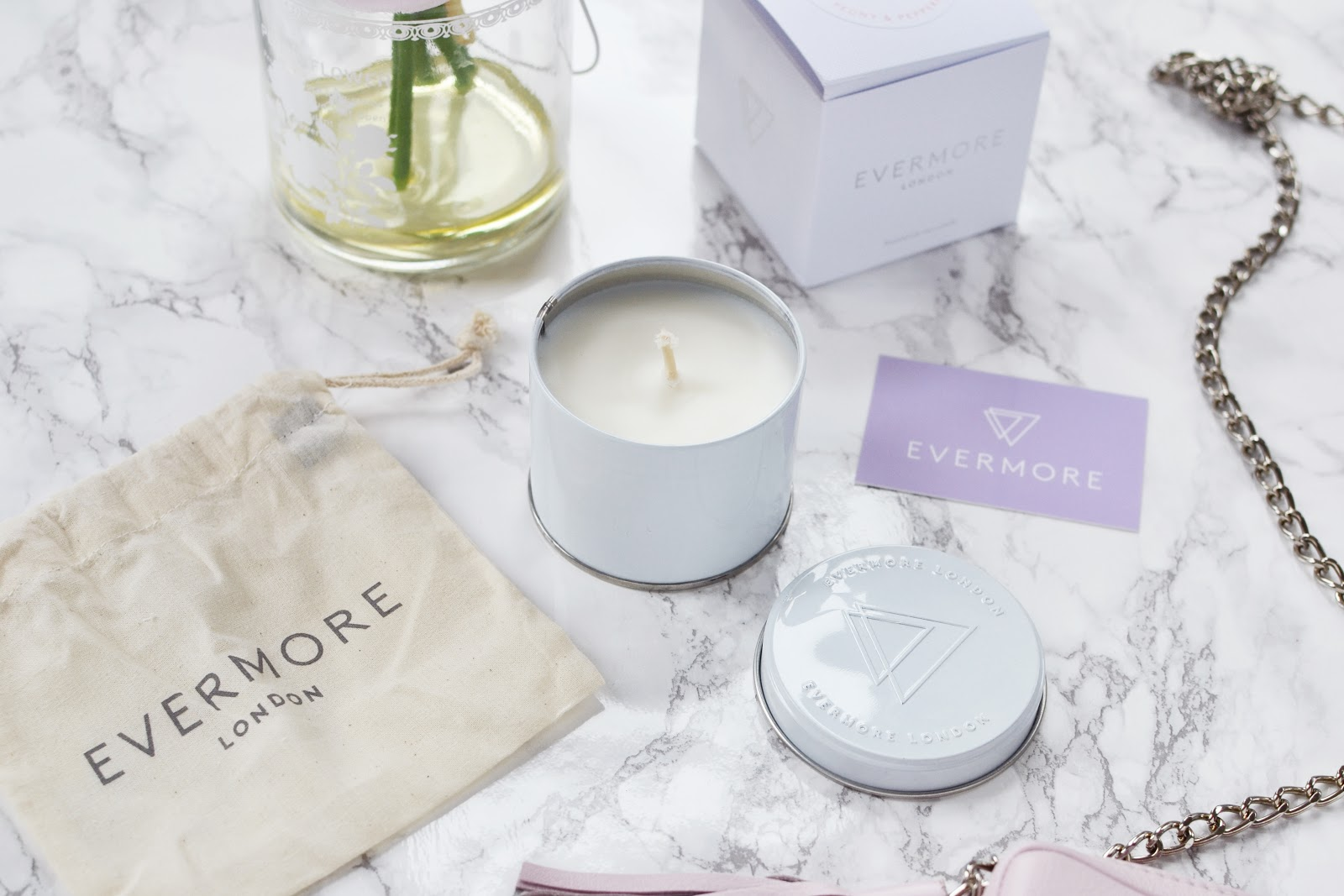 Evermore London Peony & Peppermint Soy Wax Candle