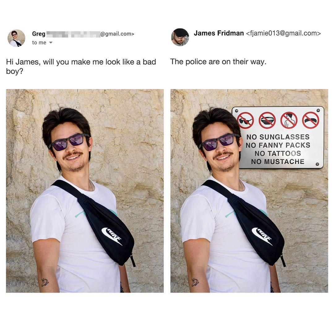 James fridman, photoshop, funny, hilarious internet sensation