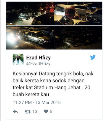 Gambar-Gambar Tragedi Stadium Hang Jebat