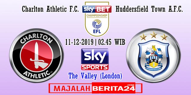 Prediksi Charlton Athletic vs Huddersfield Town — 11 Desember 2019