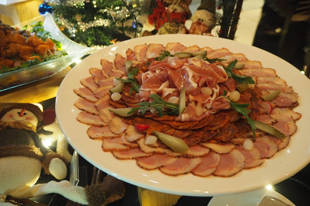 festive cold cut platter element restaurant amara hotel review