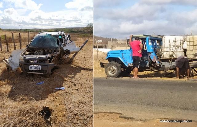Grave acidente é registrado na PE-160, no sítio Poço da Lama, em Santa Cruz do Capibaribe