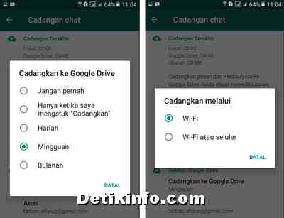 Cara Simpan Data Inbox Wa Ke Google Drive Otomatis Detik Info