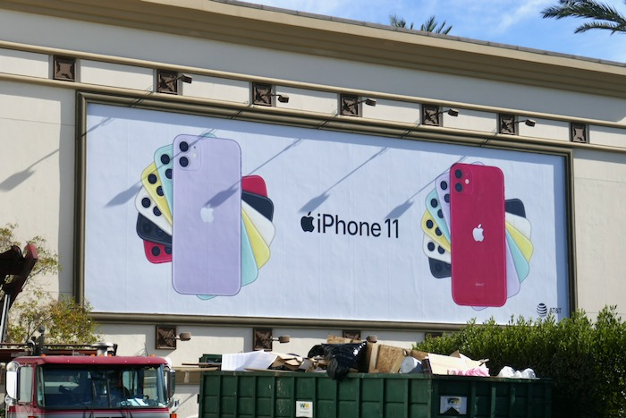 Apple iPhone 11 fan effect billboard