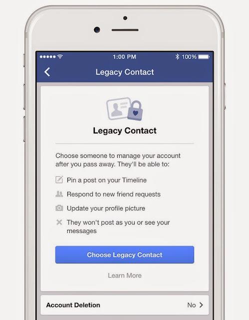 فيس بوك يطلق خاصية توريث الحسابات في حالة الوفاة للمستخدمين