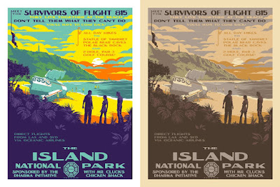"LOST ""The Island National Park"" Screen Print by Mark Englert x Bottleneck Gallery"