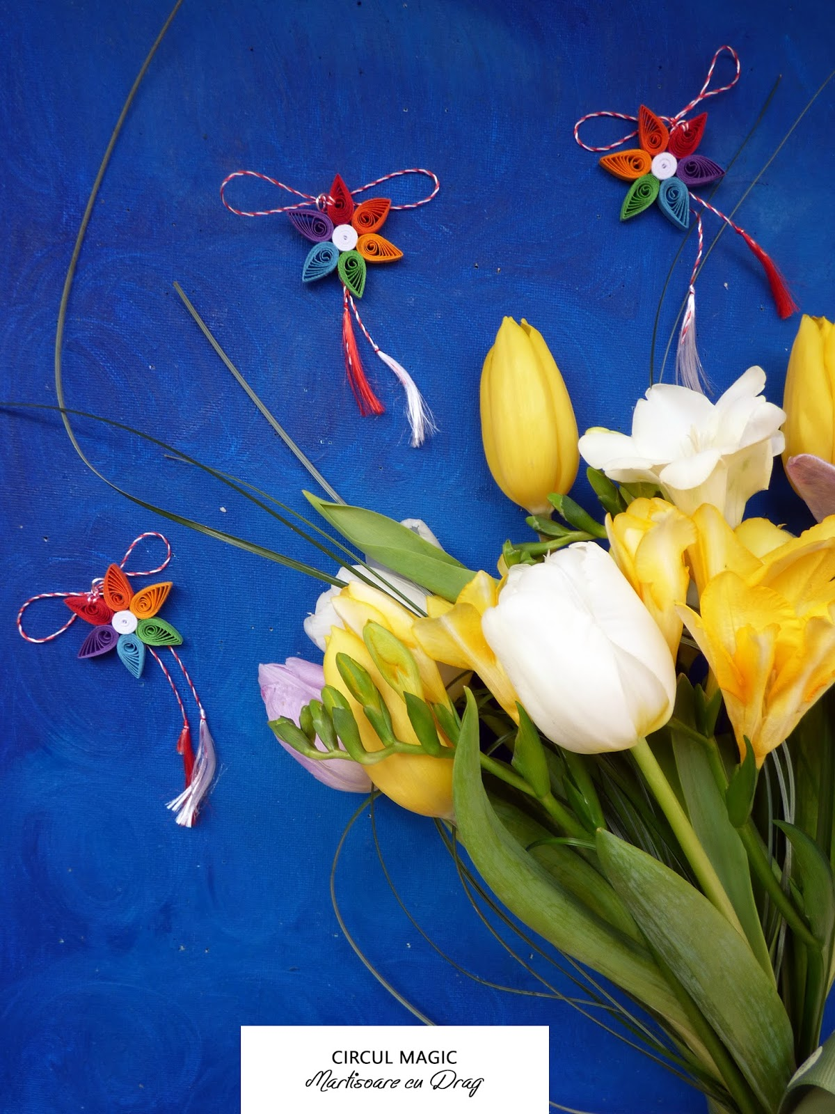 Martisoare Quilling 2017 Floare Micul Curcubeu Circul Magic