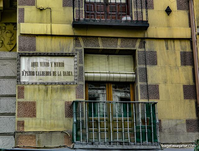 Madri, casa de Calderón de la Barca