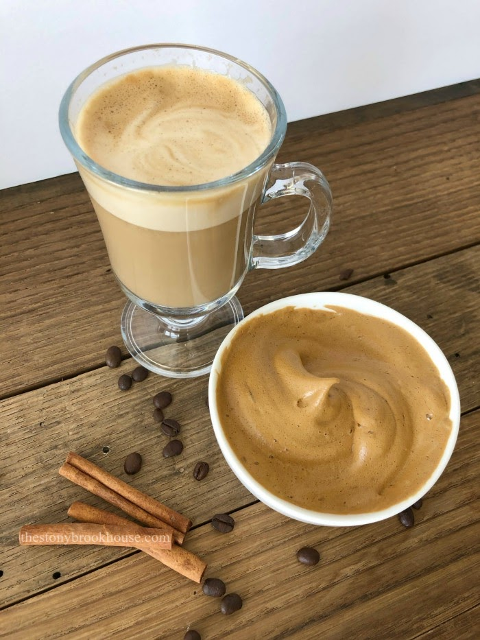 super skinny whipped coffee drink